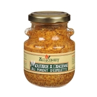 Moutarde à l'ancienne au piment d'espelette 190 grs